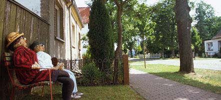Landidylle an der Hauptstraße von Kleinzerlang.