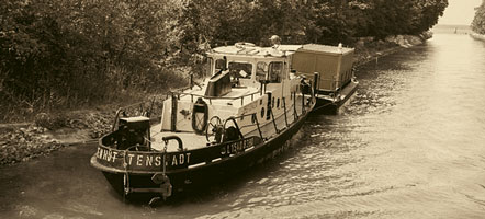 Die Schifffahrtswege müssen ständig gepflegt und mit Hilfe von Wasserbausteinen gesichert werden. Foto: Joachim Wilde