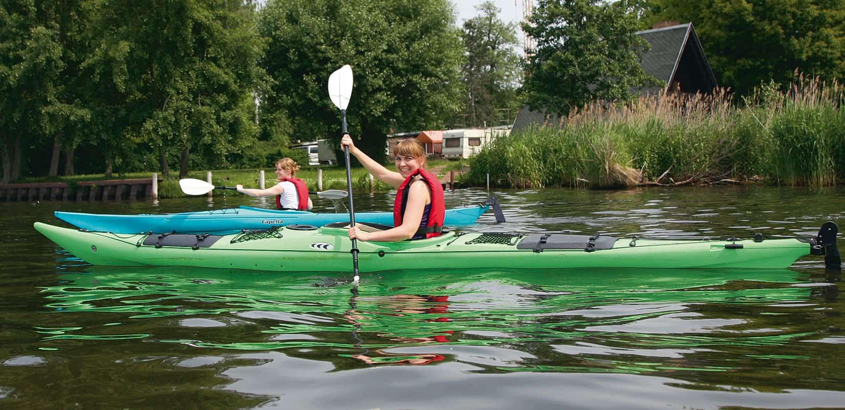 Mit dem Kanu im Seenland unterwegs