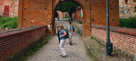 Das untere Tor der Burg Stargard, um 1250 gebaut, seit 1755 teilweise zerstört. Heute steht nur noch die Fassade. © Christiane Dohnt