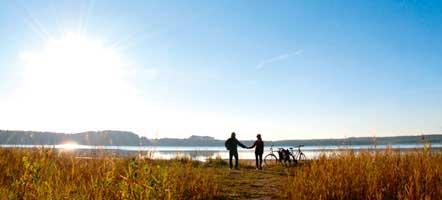 Zwischenhalt am Drewitzer See nahe der Gemeinde Alt Schwerin, er ist 4,6 Kilometer lang und bis zu 2 Kilometer breit.
