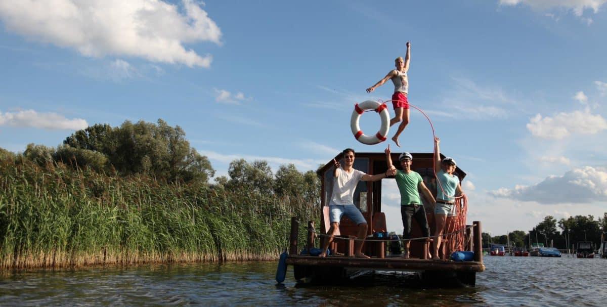 Floßurlaub in Brandenburg