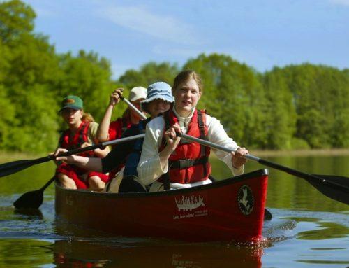 In den Sommerferien mit dem Kanu auf der Mecklenburgischen Seenplatte unterwegs